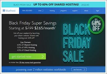 Bluehost 2017黑色星期五优惠(Black Friday)